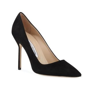Manolo Blahnik BB 105mm Suede Pumps (Tora Heel) 38